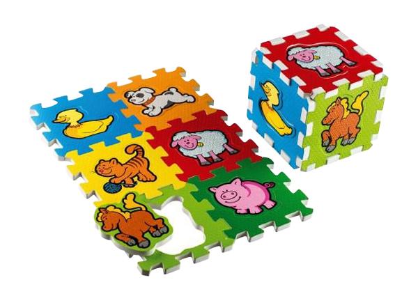 Detské puzzle TEDDIES Moje prvé zvieratká penové 6ks