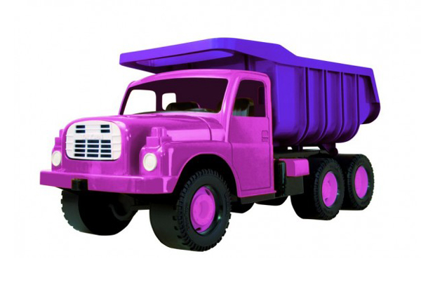 Detské nákladné auto DINO TATRA 148 PINK 73 cm