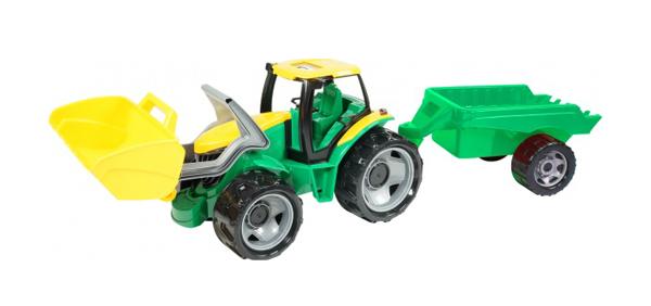 Detský traktor s prívesom LENA 60 cm