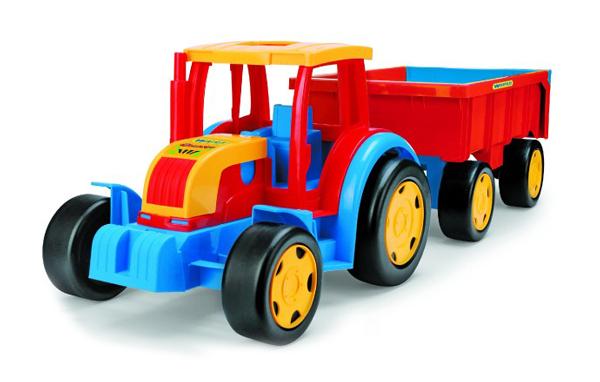 Detský traktor s prívesom WADER GIGANT 102 cm