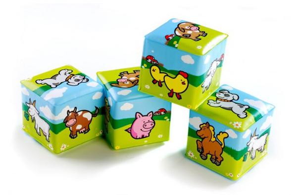Detská kocka TEDDIES Moje prvé zvieratká