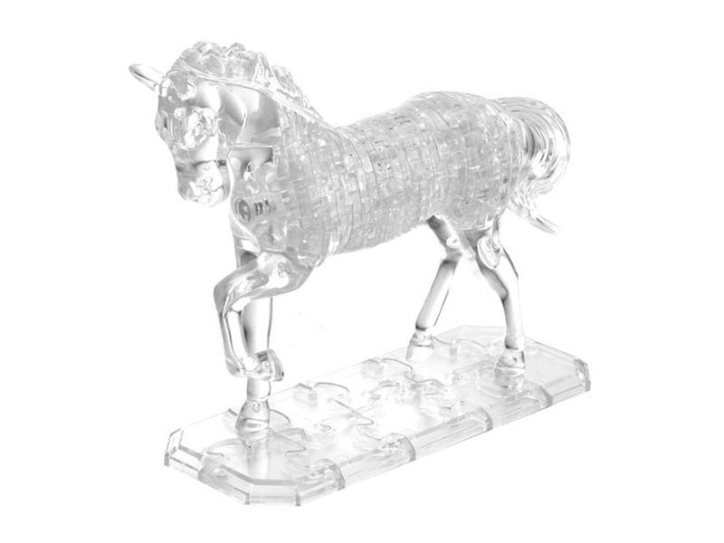 Puzzle 3D krystal Kůň