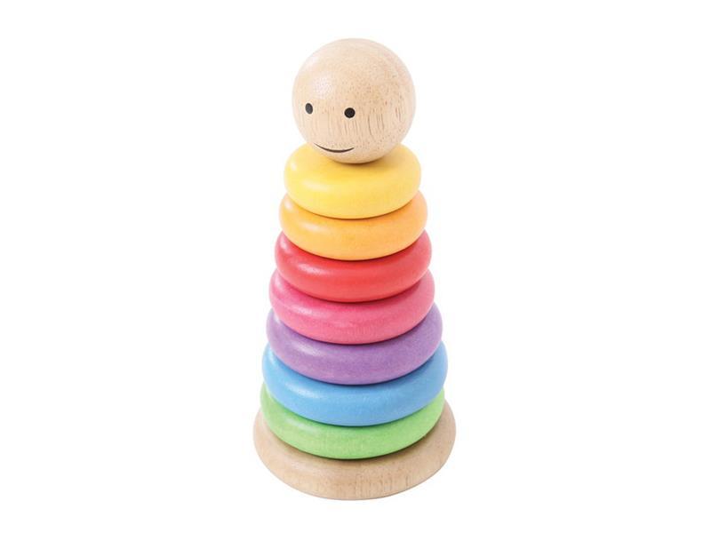 Detská vzdelávacie hra BIGJIGS TOYS Dúhový panáčik drevená
