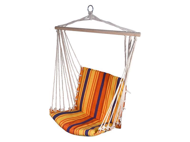 Síť houpací k sezení CATTARA 95x50cm červeno-oranžová