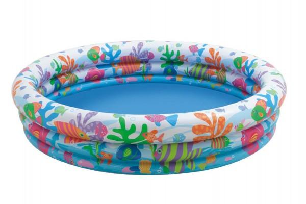 Detský bazén TEDDIES 3 komory 132 x 28 cm