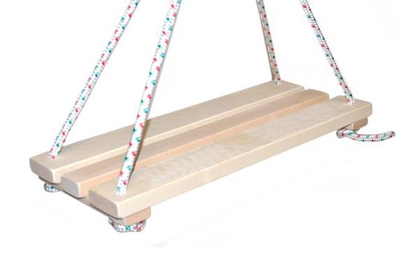Detská hojdačka TEDDIES drevená