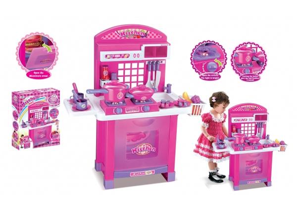Detská kuchynka G21 SUPERIOR s príslušenstvom PINK