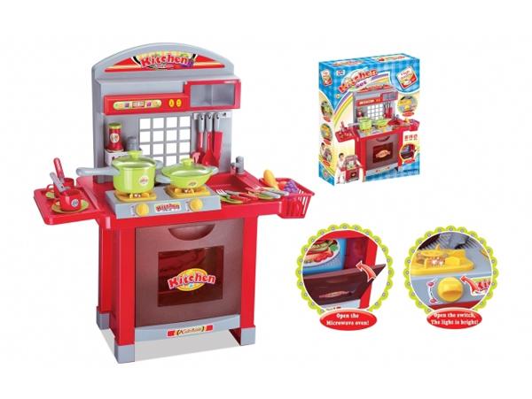 Detská kuchynka G21 SUPERIOR s príslušenstvom RED