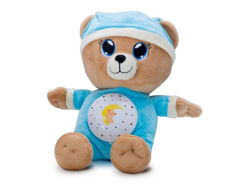 Dětský plyšový medvídek TEDDIES Uspávačik 32 cm modrý