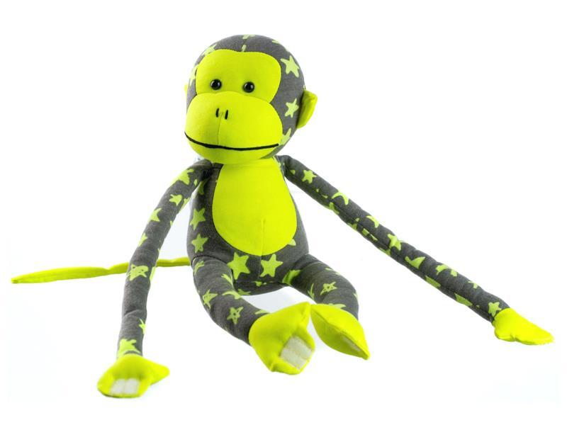 Detská plyšová opička TEDDIES 45 cm svietiace v tme