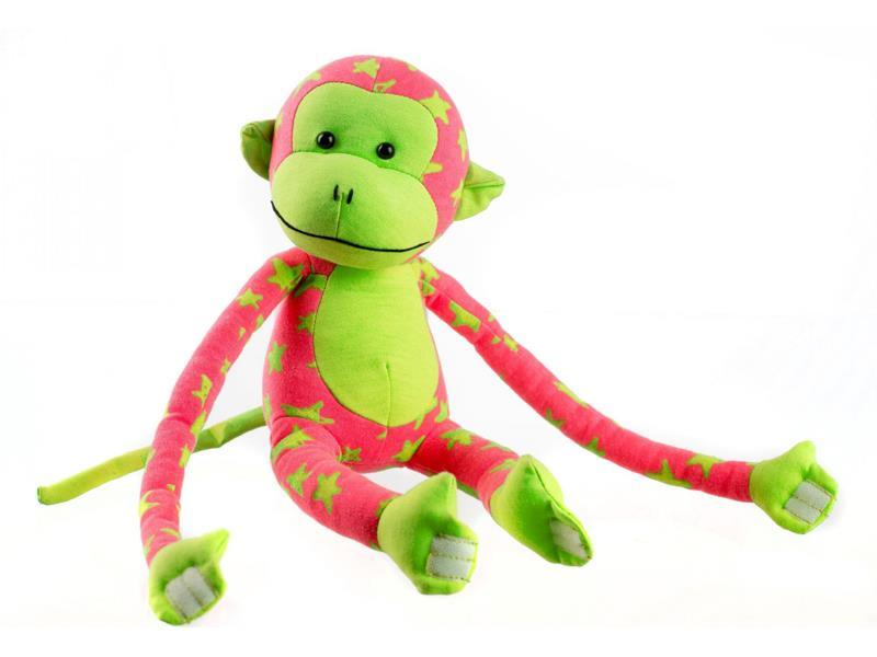 Detská plyšová opička TEDDIES 45 cm svietiace v tme zelená