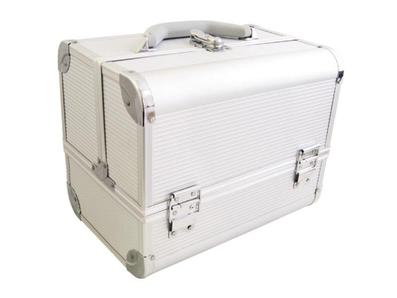 Kufrík kozmetický PROTEC hliník strieborný