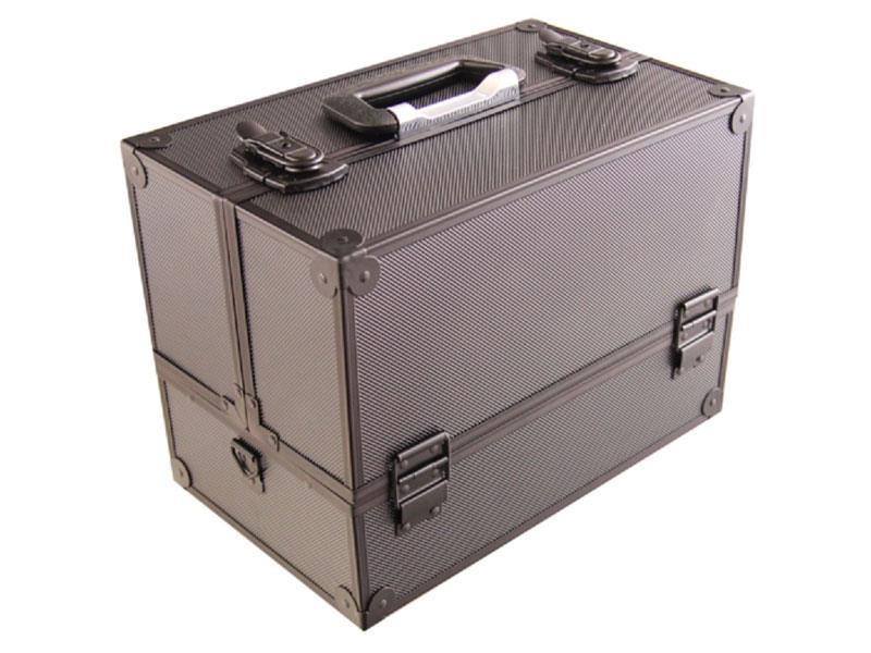 Kufrík kozmetický PROTEC hliník čierny lesklý