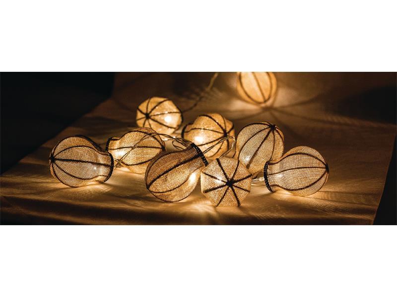 Reťaz vianočné 10 LED 1.5m žiarovky HQLEDSLBULB