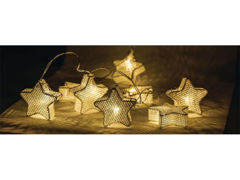 Reťaz vianočné 10 LED 1.5m hviezdy HQLEDSLSTAR