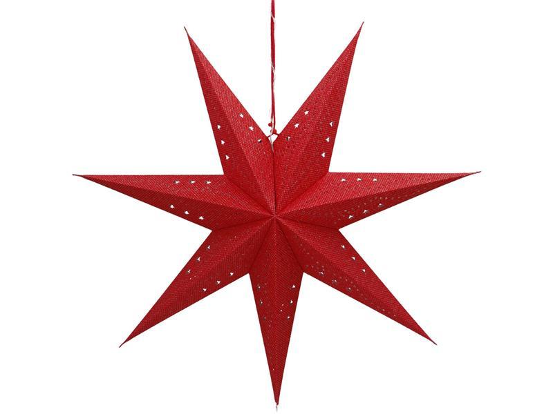Dekorácie vianočné RETLUX RXL 362 WW hviezda červená