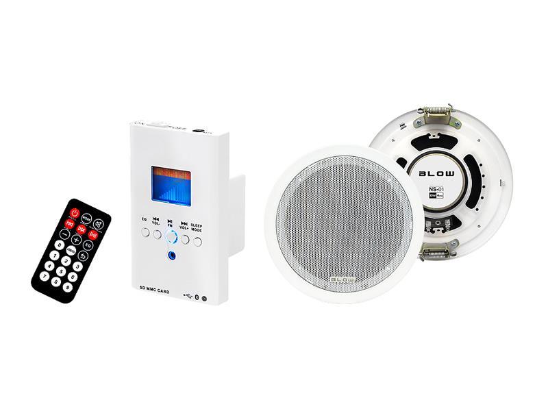 Audio systém nástenný BLOW NS-01, diaľkové ovládanie