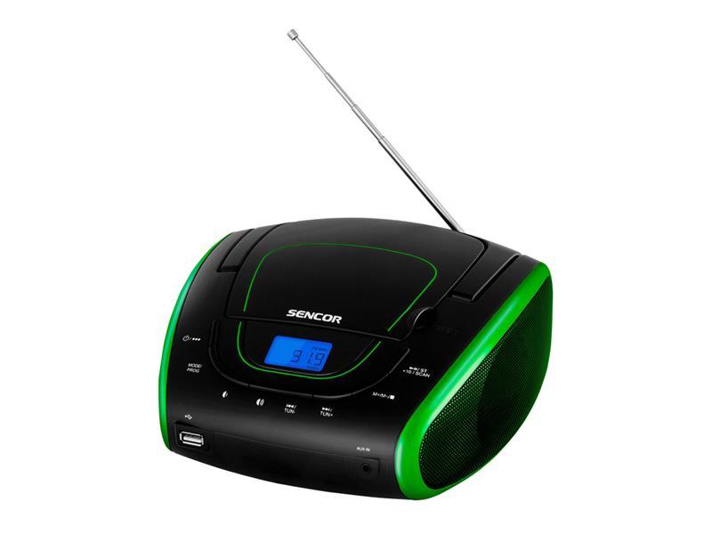 Prenosné FM rádio SENCOR SPT 1600 BGN s CD/MP3/USB