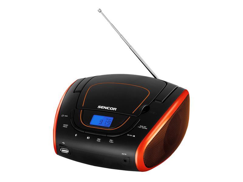 Prenosné FM rádio SENCOR SPT 1600 BOR s CD/MP3/USB