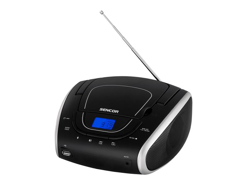 Prenosné FM rádio SENCOR SPT 1600 BS s CD/MP3/USB