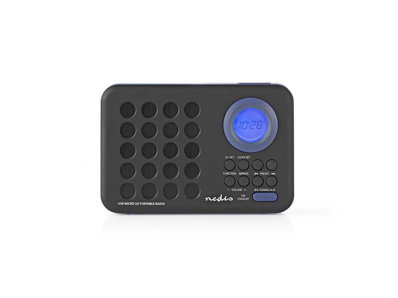 Rádio FM / USB / MICRO SD NEDIS RDFM1310BU BLACK / BLUE