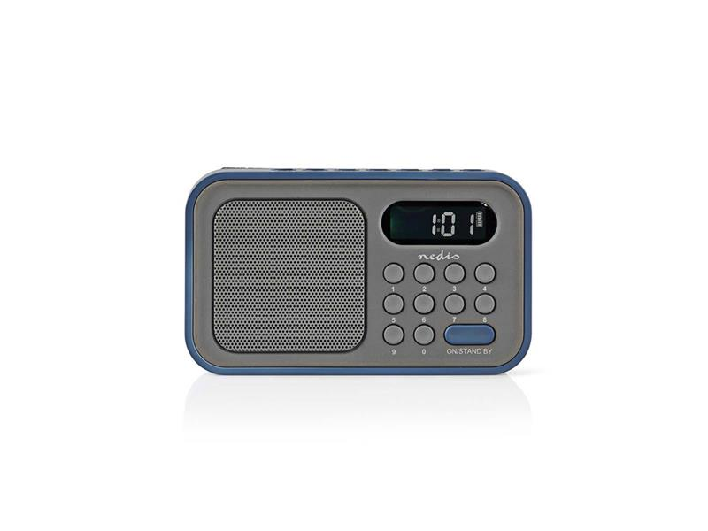Rádio FM NEDIS RDFM2200BU GREY / BLUE