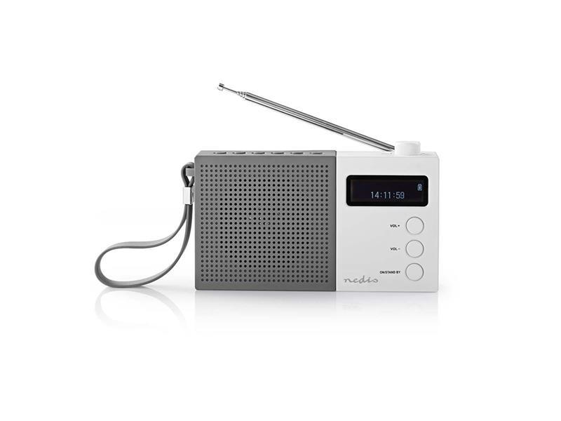 Rádio FM / DAB+ NEDIS RDDB2210WT GREY / WHITE