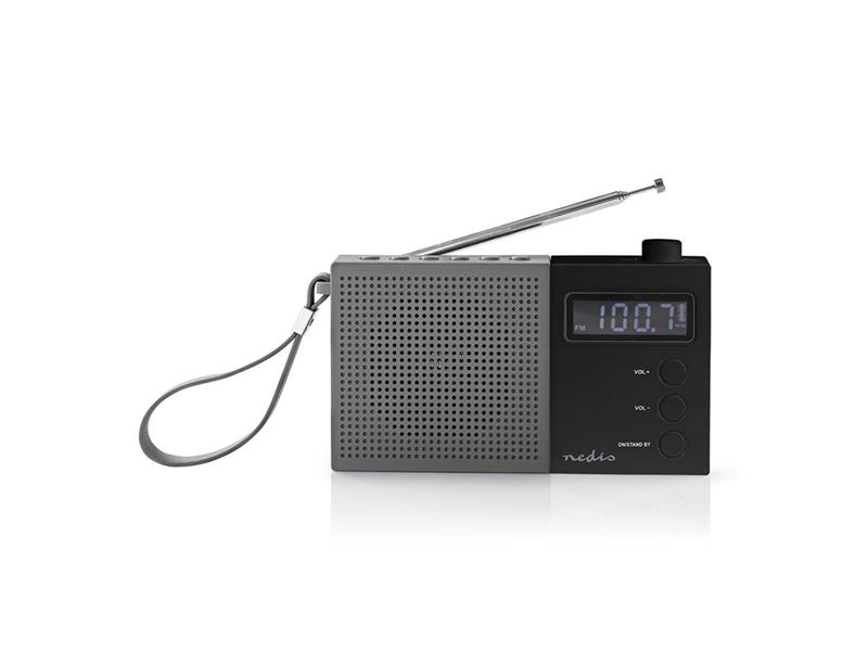 Rádio FM NEDIS RDFM2210BK GREY / BLACK