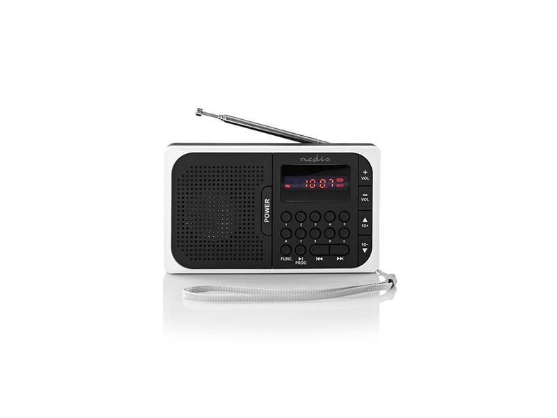Rádio FM / USB / MICRO SD NEDIS RDFM2100WT BLACK / WHITE