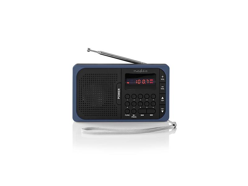 Rádio FM / USB / MICRO SD NEDIS RDFM2100BU BLACK / BLUE