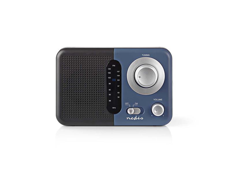 Rádio FM NEDIS RDFM1300BU BLACK / BLUE