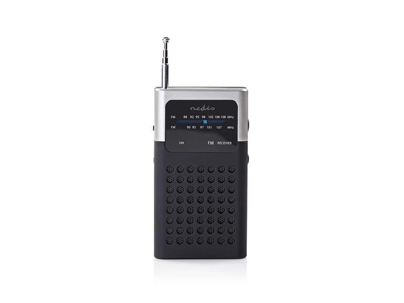 Rádio FM NEDIS RDFM1100GY BLACK / GREY