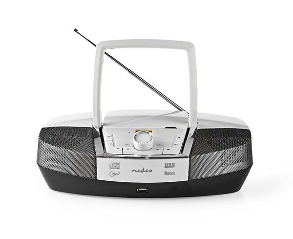 Rádio FM / USB / CD / BLUETOOTH NEDIS SPBB200WT WHITE