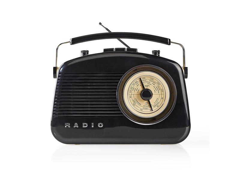 Rádio FM / BLUETOOTH NEDIS RDFM5010BK BLACK