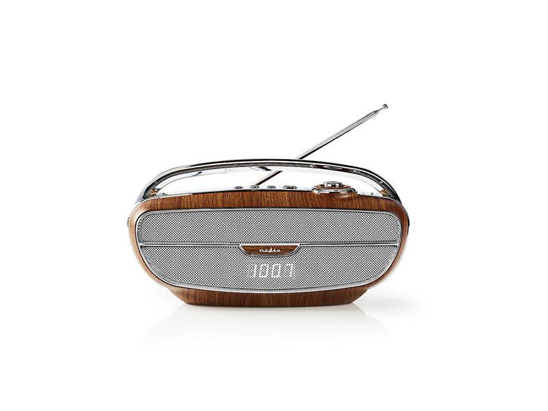 Rádio FM / BLUETOOTH NEDIS RDFM5310BN BROWN / SILVER