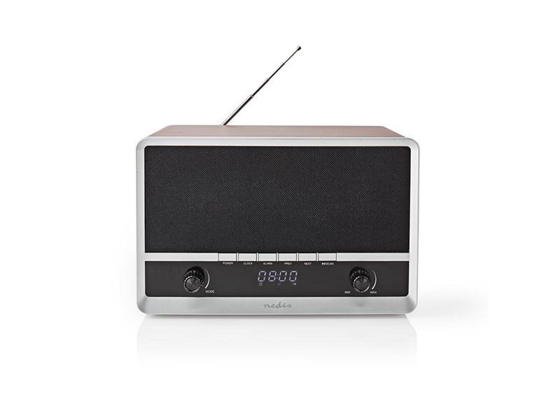 Rádio NEDIS RDFM5200BN BROWN/BLACK