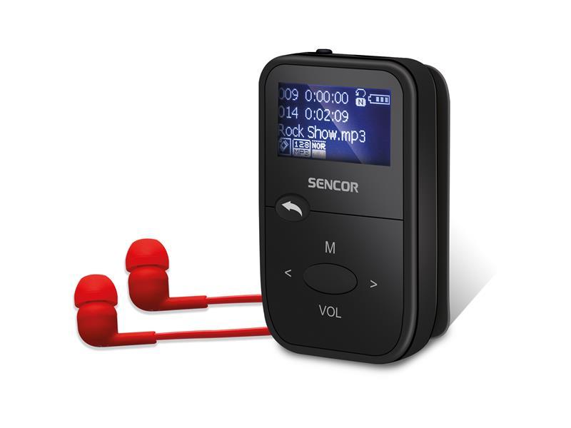 Prehrávač MP3 SENCOR SFP 4408 BK 8GB