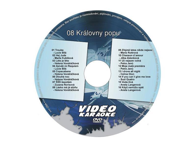 Karaoke DVD KRÁLOVNY POPU