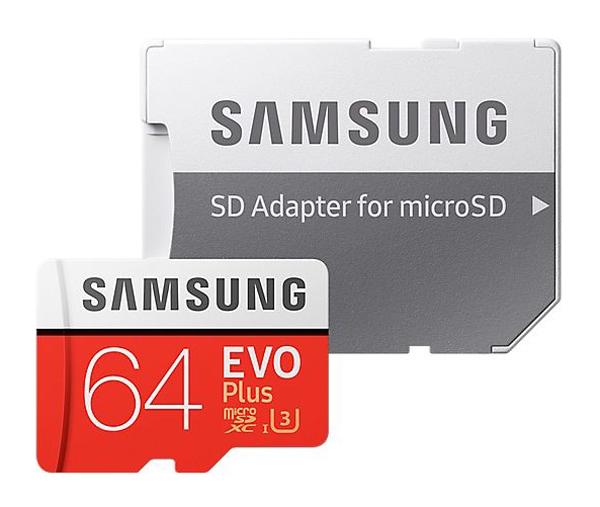 Karta pamäťová SAMSUNG Micro SDHC 64GB Class 10 + adaptér MB-MC64GA/EU