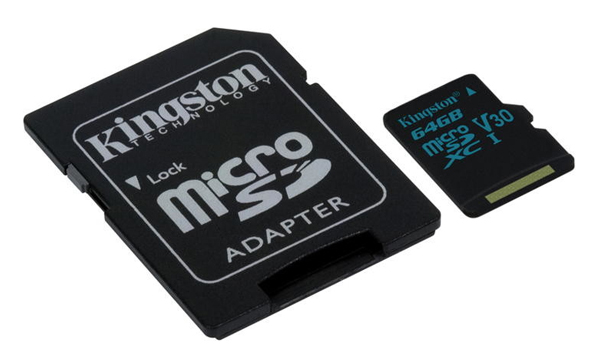 Karta pamäťová KINGSTON MICRO SDHC 64GB CLASS 10 + adaptér SDCG/64GB