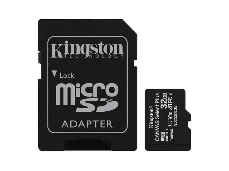 Pamäťová karta KINGSTON SDCS/32GB micro SDHC 32GB CL10 s adaptérom