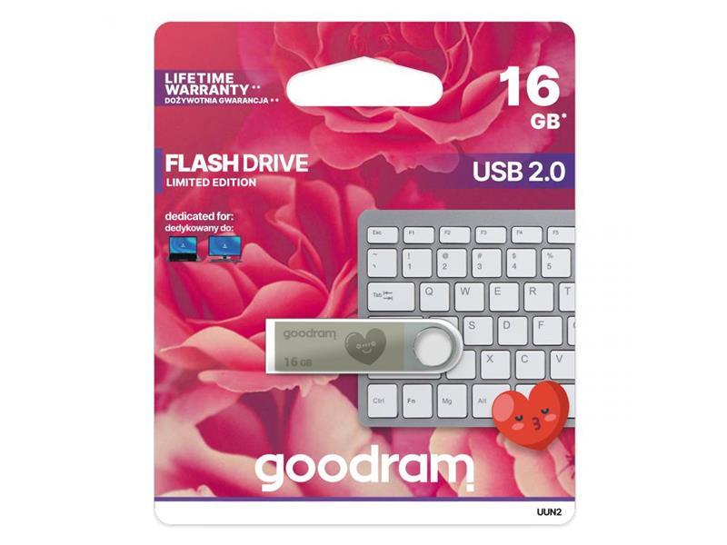 Flash disk GOODRAM USB 2.0 16GB UUN2 strieborná