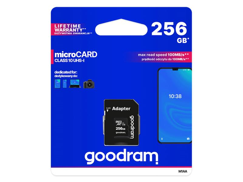 Karta pamäťová GOODRAM micro SD 256 GB s adaptérom