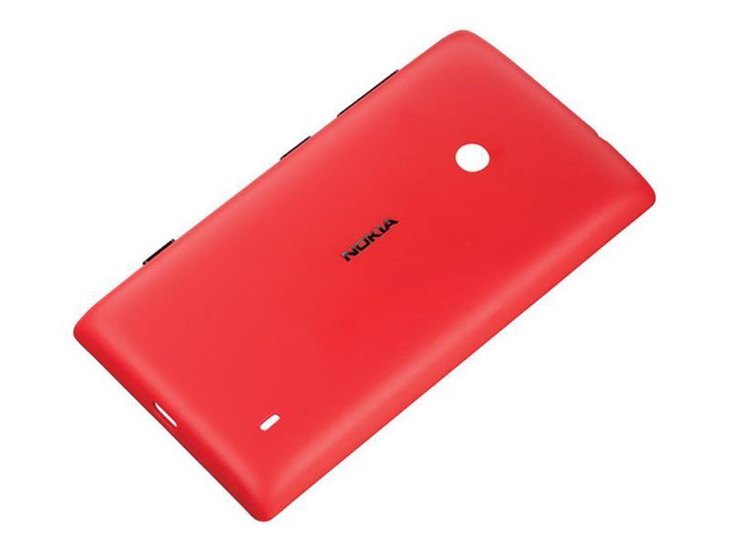 Nokia CC-3068 ochranný kryt pro Nokia Lumia 520, červená - 02737L5