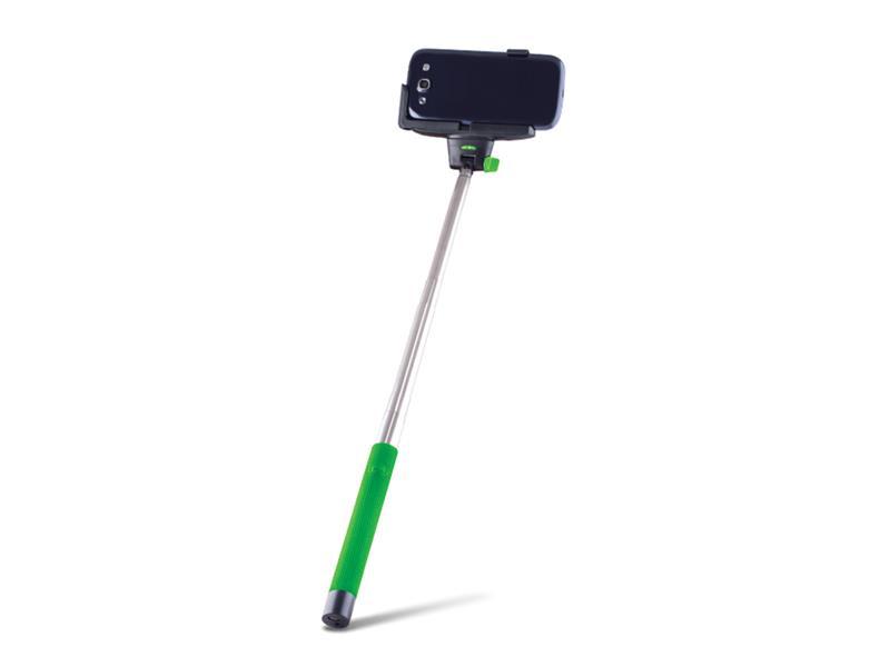 Selfie tyč sa spúšťa BLUETOOTH FOREVER MP-100 zelená