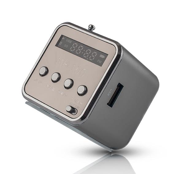 Rádio prenosné FOREVER MF-100 strieborná