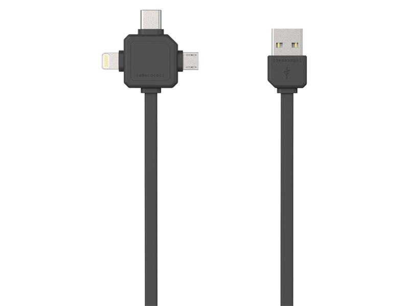 Kábel USB - MICRO USB / USB C-TYPE / LIGHTNING GREY