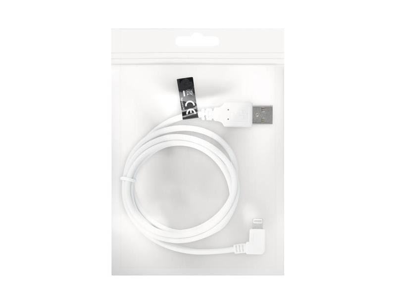 Kábel USB - LIGHTNING 1m FOREVER uhlový konektor