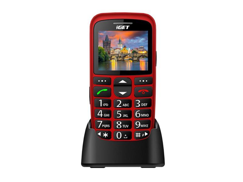 Telefón iGET SIMPLE D7 RED
