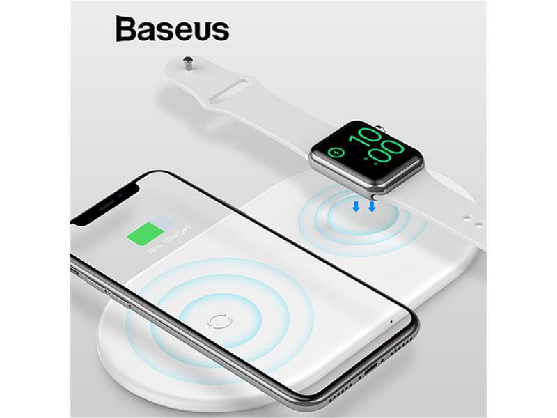 Nabíječka BASEUS 2v1 Qi pro Iphone a Apple watch 10w